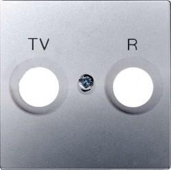 Накладка на розетку телевизионную Simon SIMON 82, алюминий, 82053-33