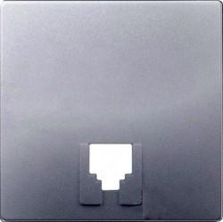 Накладка на розетку информационную Simon SIMON 82, алюминий, 82062-33