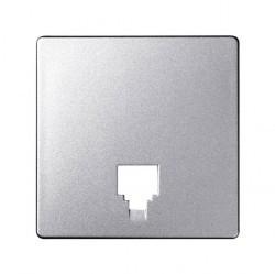 Накладка на розетку информационную Simon SIMON 82, алюминий, 82062-93