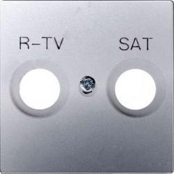 Накладка на розетку телевизионную Simon SIMON 82, алюминий, 82097-33