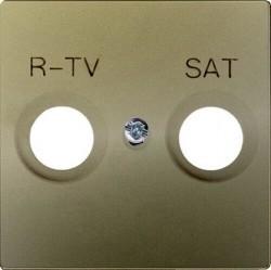 Накладка на розетку телевизионную Simon CENTRALISATION 82, шампань, 82097-34