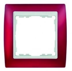 Рамка 1 пост Simon SIMON 82, красный полупрозрачный, 82613-37