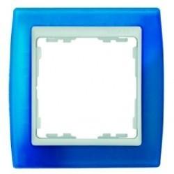 Рамка 1 пост Simon SIMON 82, синий полупрозрачный, 82613-64