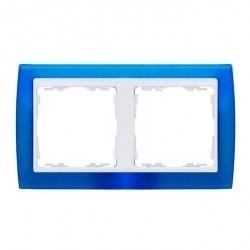 Рамка 2 поста Simon SIMON 82, синий полупрозрачный, 82623-64