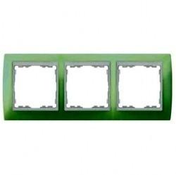 Рамка 3 поста Simon SIMON 82, зеленый, 82631-65