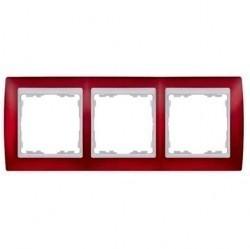 Рамка 3 поста Simon SIMON 82, красный полупрозрачный, 82633-37