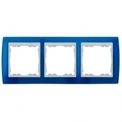 Рамка 3 поста Simon SIMON 82, синий полупрозрачный, 82633-64