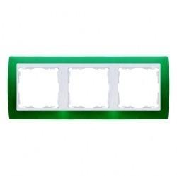 Рамка 3 поста Simon SIMON 82, зеленый полупрозрачный, 82633-65