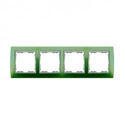 Рамка 4 поста Simon SIMON 82, зеленый, 82641-65