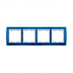 Рамка 4 поста Simon SIMON 82, синий полупрозрачный, 82643-64