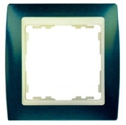 Рамка 1 пост Simon SIMON 82, синий металлик, 82714-64
