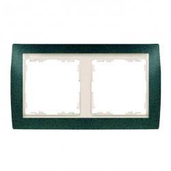 Рамка 2 поста Simon SIMON 82, зеленая текстура, 82724-65