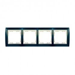 Рамка 4 поста Simon SIMON 82, синий металлик, 82744-64