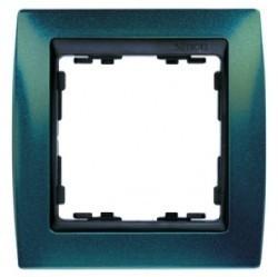 Рамка 1 пост Simon SIMON 82, синий металлик, 82814-64