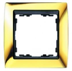 Рамка 1 пост Simon SIMON 82, золотой, 82814-66
