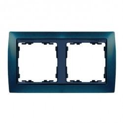 Рамка 2 поста Simon SIMON 82, синий металлик, 82824-64