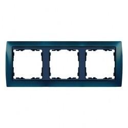 Рамка 3 поста Simon SIMON 82, синий металлик, 82834-64