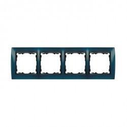 Рамка 4 поста Simon SIMON 82, синий металлик, 82844-64