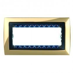 Рамка 8 узких модулей Simon SIMON 82, золотой, 82884-66