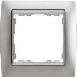 Рамка 1 пост Simon SIMON 82, алюминий матовый, 82914-33