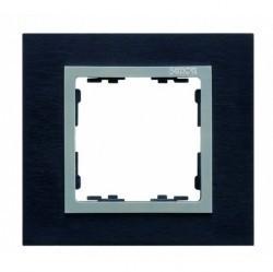 Рамка 2 поста Simon SIMON 82, сталь черная, 82927-38