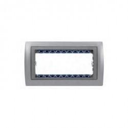 Рамка 5 узких модулей Simon SIMON 82, алюминий, 82954-33