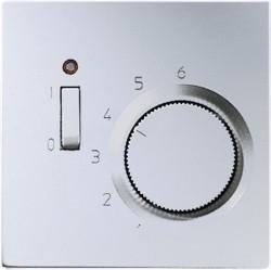 Термостат комнатный Jung LS METAL, матированный алюминий, TRAL231