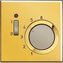 Термостат комнатный Jung LS METAL, золотой, TRGO231